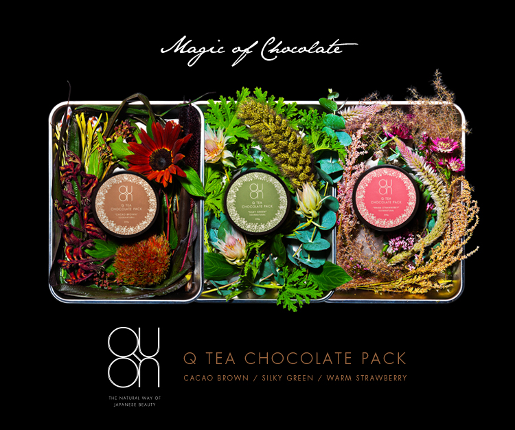 Magic of Chocolate - Q TEA CHOCOLATE PACK / CACAO BROWN / SILKY GREEN / WARM STRAWBERRY